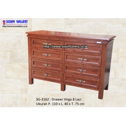 Drawer Jati Virgo 8 Laci