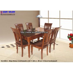 Meja Makan Jati Cendrawasih