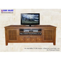 Buffet TV Jati Big Arjuna Kaki 7cm