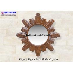 Pigura Jati Bulat Shield
