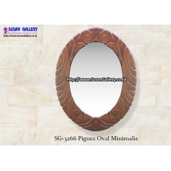 Pigura Jati Oval Minimalis